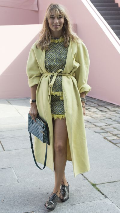 <p>Make like a Wes Anderson colour palette in a pastel winter coat.</p>