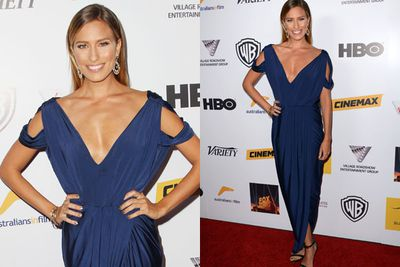 TV presenter Renee Bargh told TheFIX she'd picked out her grecian-inspired Pia Glady's Perey frock only a few hours before the awards show started! And how well she did...