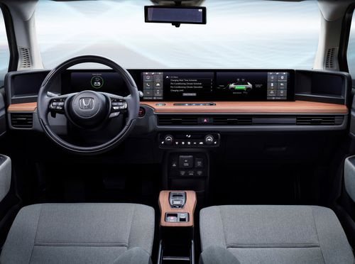 The e Prototype is designed to have a 'lounge-like feel' from behind the wheel.