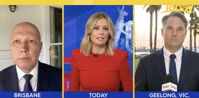 The question was asked in Today's weekly newschat panel with Defence Minister Peter Dutton and Deputy Opposition Leader Richard Marles.