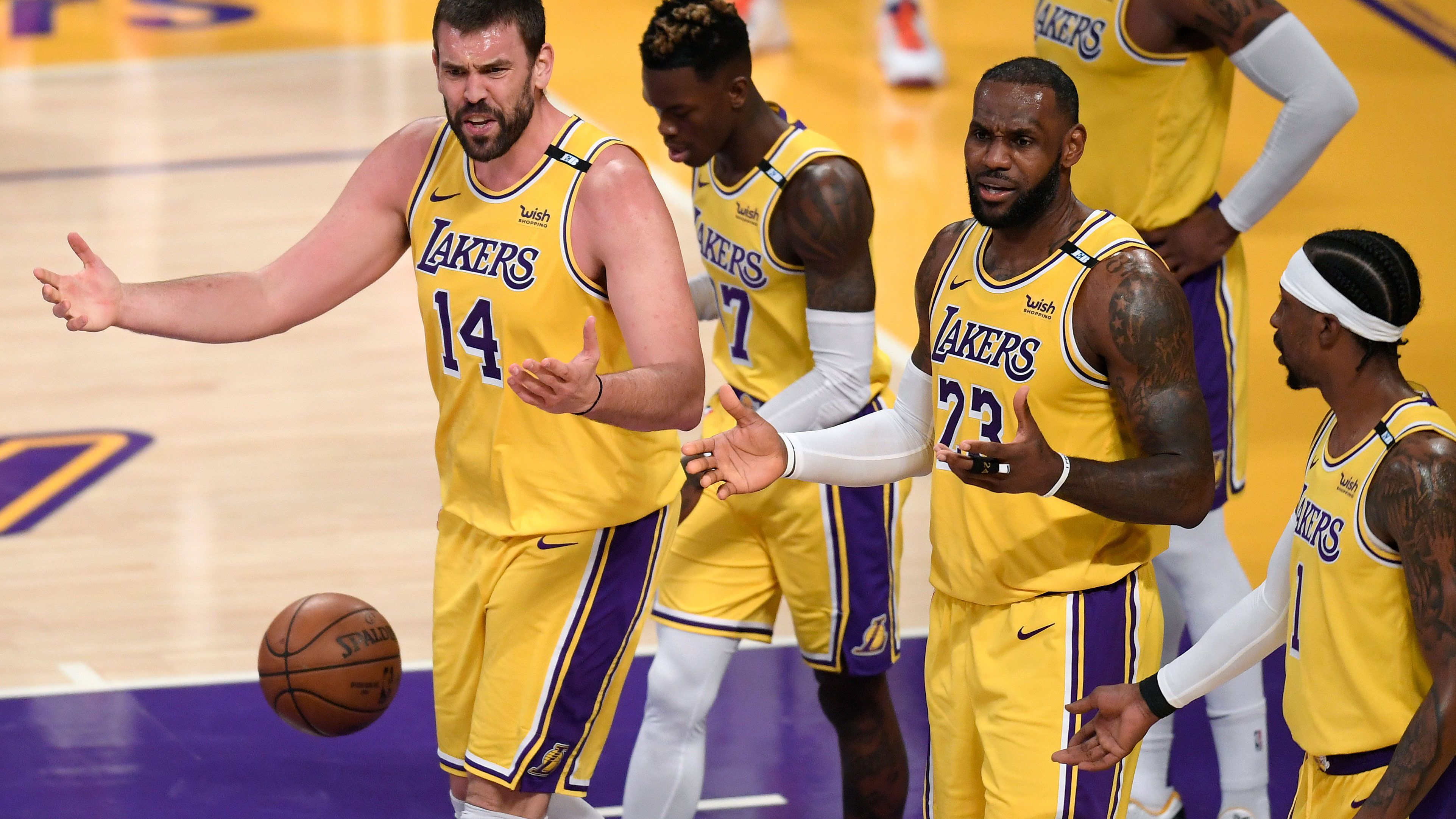 LeBron James and the LA Lakers on their way to elimination from the Playoffs.