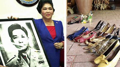 <p>Imelda Marcos</p> <p>The former first lady of the Philippines and husband to its ex strongman Ferdinand Marcos is perhaps best known for her love of shoes. When pro-democracy demonstrators stormed the presidential palace in Manila in 1986, 2700 pairs of shoes were found to have been left behind by a fleeing Imelda.<br> After a brief exile in Hawaii, she was permitted to return to the Philippines following her husband's death. She was allowed to keep billions of dollars the couple reaped during their years in power and even made a failed run for president.</p>