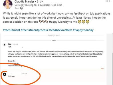 Recruiter shares abusive letter from rejected candidate: 'You get what you give'