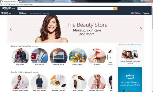The Amazon Australia website has finally gone live.