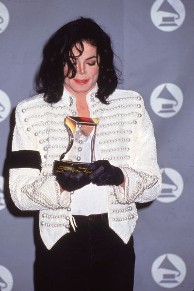 Michael Jackson at the 35th Annual Grammy Awards, February 1993