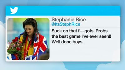 "In 2010, Australian swimmer Stephanie Rice posted a homophobic slur on Twitter. She tweeted ""Suck on that f**gots,"" after the Wallabies defeated the Springboks."
