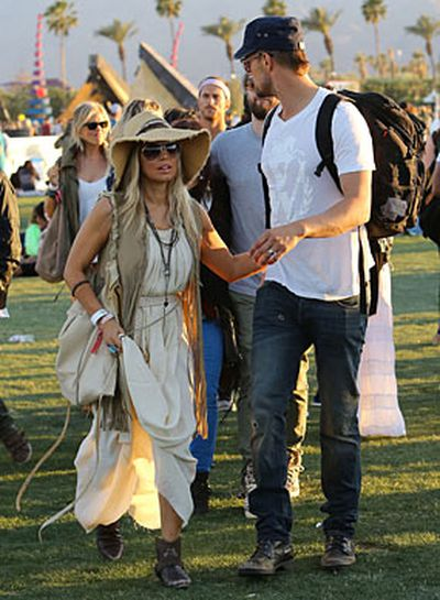 Janis Joplin, coming through!<br/><br/>Woodstock wannabes: Hollywood stars dress up to look dressed down as they mingle with the crowd at US music festival Coachella.