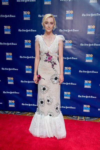 Saoirse Ronan in Rodarteat the 2017Gotham Awards