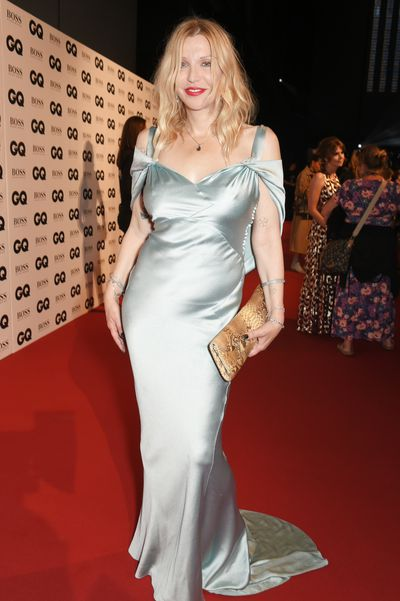 <p>Courtney Love has swayed back and forth from train wreck rock widow to glamour goddess on the red carpet and at the GQ Awards in London she returned to sophisticated form in an ice blue silk gown.</p> <p>The 53-year-old widow of Kurt Cobain was on hand to present Australian rock god Nick Gave with an award but stole the show in her thirites-inspired gown, paired with a dramatic red lip.</p> <p>At first glance model Poppy Delevingne, the sweet sister of Chanel favourite Cara, had also chosen the path of polish but the paparazzi flash bulbs revealed her breasts beneath the sheer bodice of her Reem Acra gown.</p> <p>Delevingne presented Adwoa Aboah with the Model of the Year award at the p</p> <p>Storm Keating, the wife of singer and celebrity judge Ronan, was only slightly more prudish, with black bloomers and bra beneath her sheer dress, looking toned four months after giving birth to son cooper.</p> <p>See the full red carpet here.</p> <p> </p>