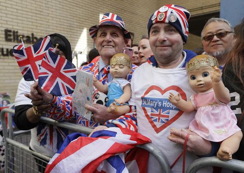 Terry and John have been outside the hospital for the birth of all three of the Cambridges' children. (PA/AAP)