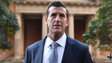 Ben Roberts-Smith arrives at the Federal Court of Australia in Sydney for the start of his defamation trial.