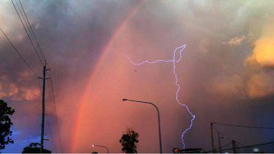 Reader Jay McSherry captured a lightning strike in Campbelltown.