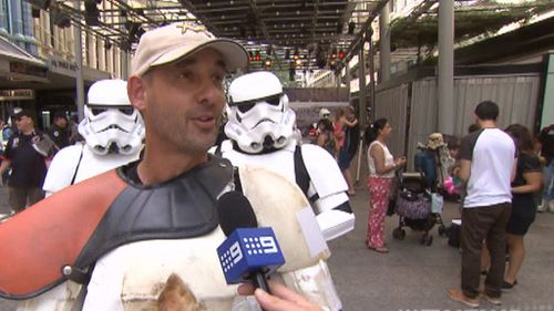 Scott Loxley in his Storm Trooper get up. (9NEWS)