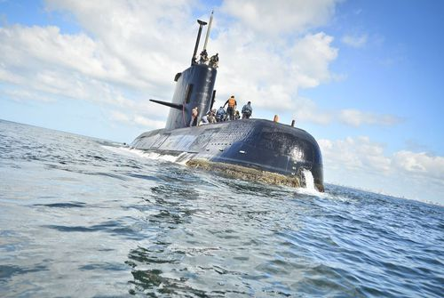 The submarine has been missing for 15 days.
