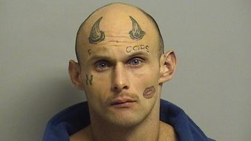 US man with tattooed face given honour of 'mugshot of the year'