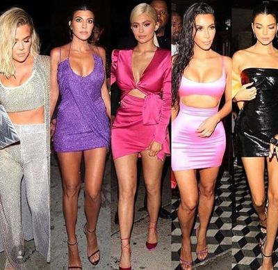 Khloe Kardashian, Kourtney Kardashian, Kylie Jenner, Kim Kardashian and Kendall Jenner at the 21st birthday celebrations of Kylie Jenner
