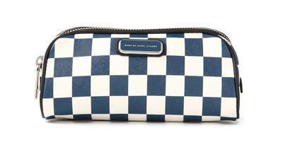 """<a href=""""http://www.farfetch.com/au/shopping/women/marc-by-marc-jacobs-sophisticato-checkboard-big-bliz-cosmetic-bag-item-10943814.aspx?storeid=9724&ffref=lp_5_4_""""> Sophisticato Checkboard Big Bliz Cosmetic Bag, $123.31, Marc by Marc Jacobs</a>"""