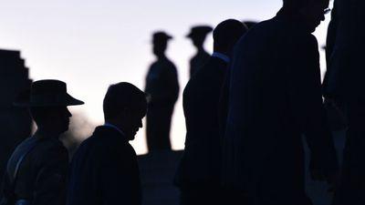 Opposition leader Bill Shorten at the Shrine of Remembrance. (AAP)