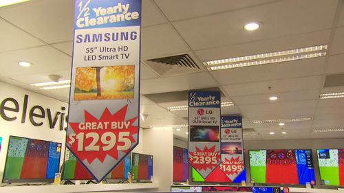 Retailers around Australia are offering huge discounts on products in their End of Financial Year Sales. Picture: 9NEWS.