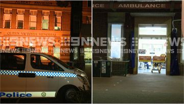 A female patient is under police guard after three nurses and a patient were allegedly stabbed at Sydney's RPA Hospital overnight.