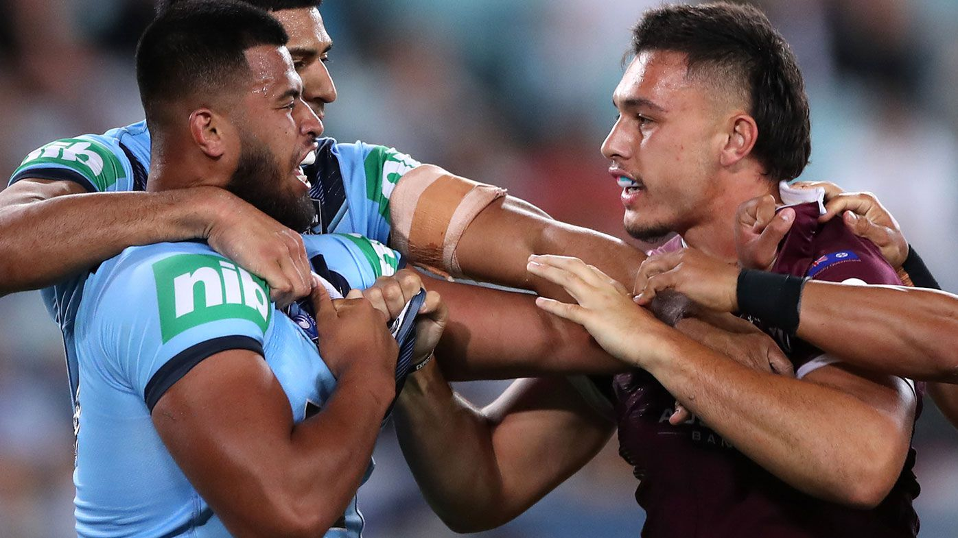 'Riding on my coat-tail': Blues Payne Haas hits back at Fa'asuamaleaui claim after Origin biff