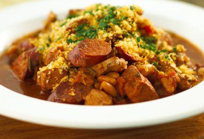 Pork and bean cassoulet