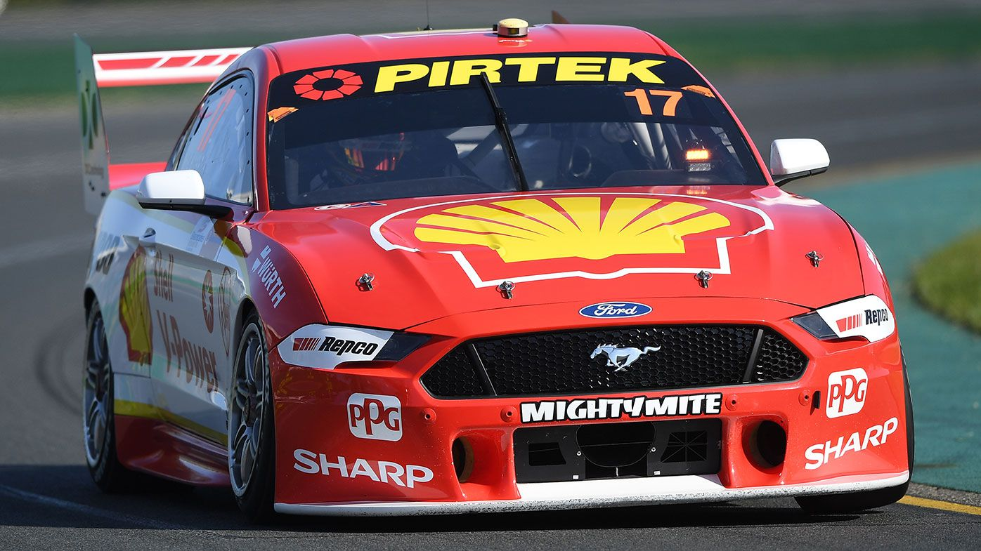 Scott McLaughlin at the wheel of the Mustang.