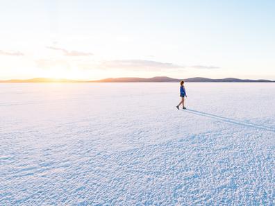 Salt Lake in South Australia