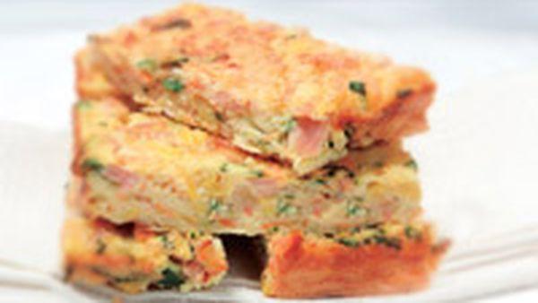 Ham and vegie slice