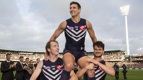 Pavlich joins the 9NEWS Perth team after a glittering 353-game career with Fremantle. (AAP)