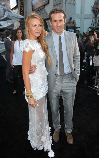 Blake Lively and Ryan Reynolds at the premiere of Warner Bros. Pictures' <em>Green Lantern</em> held at Grauman's Chinese Theatre on June 15, 2011 in Hollywood, California