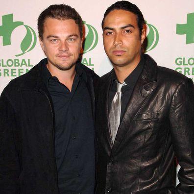 Leonardo DiCaprio with Jonah Johnson in 2007.