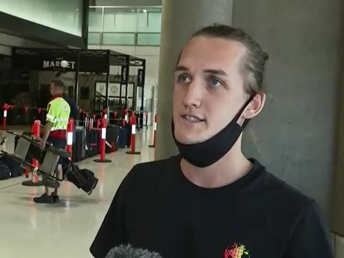Jason Swarts traveled to Brisbane from Newcastle via Sydney Airport.