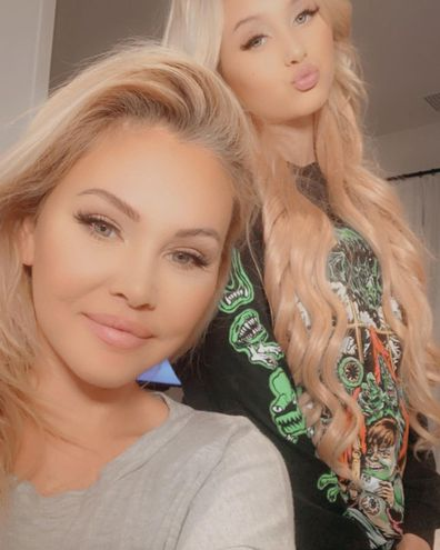Travis Barker's ex-wife Shanna Moakler and daughter Alabama.