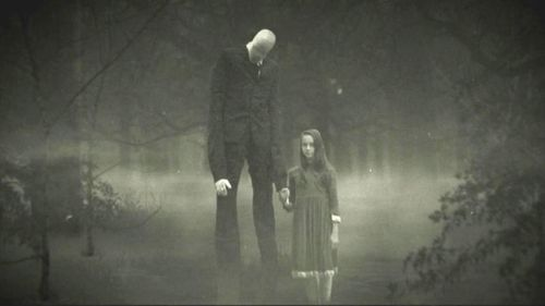 """Slenderman"" is a shape-shifting character created on the internet. (Creepypasta)"