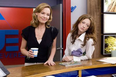 Examples: Judy Greer in <i>27 Dresses</i> (pictured). Judy Greer in <i>The Wedding Planner</i>. Judy Greer in <i>Love Happens</i>. Poor Judy Greer!<br/>