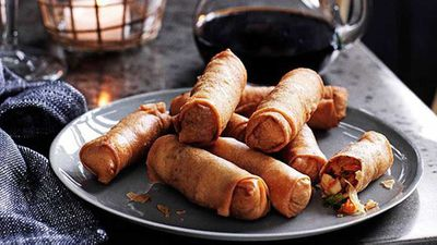 "<p><a href=""http://kitchen.nine.com.au/2016/05/13/13/58/indonesian-spring-rolls-lumpia"" target=""_top"" draggable=""false""><strong>Indonesian spring rolls (Lumpia)</strong></a><strong><a href=""http://kitchen.nine.com.au/2016/05/13/13/58/indonesian-spring-rolls-lumpia"" target=""_top"" draggable=""false""></a> recipe<br> </strong></p>"