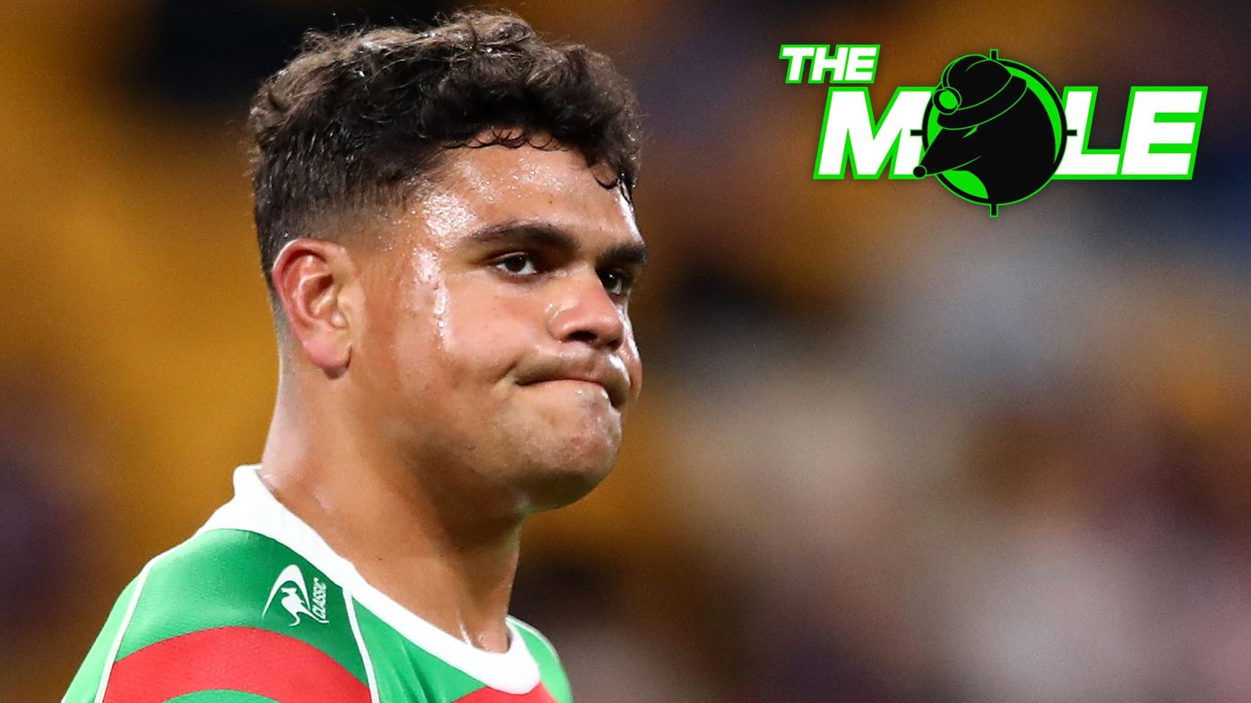 Latrell Mitchell's hit on Joey Manu appears set to cost him the Souths captaincy.