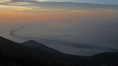 World's longest sea bridge opens linking China and Hong Kong