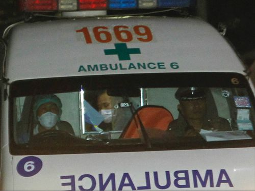 At least two of the rescued boys have been taken to hospital. (AAP)