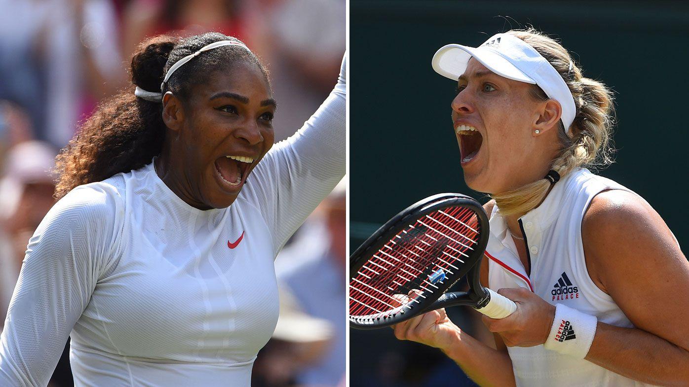 Serena Williams (left) and Angelique Kerber