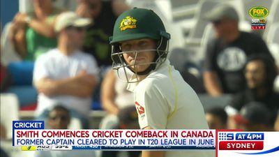 Steve Smith set for cricketing return in Canada