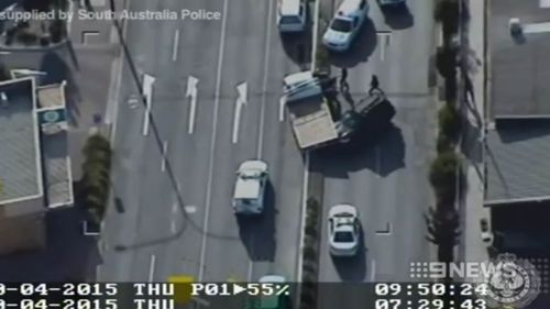 Stolen truck smashes into cars during SA police chase