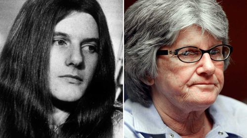 Patricia Krenwinkel in 1970 and 2011. (AAP)