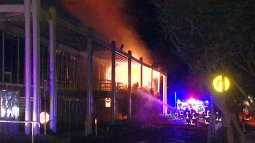Firefighters attempt to get the fire under control (9NEWS)