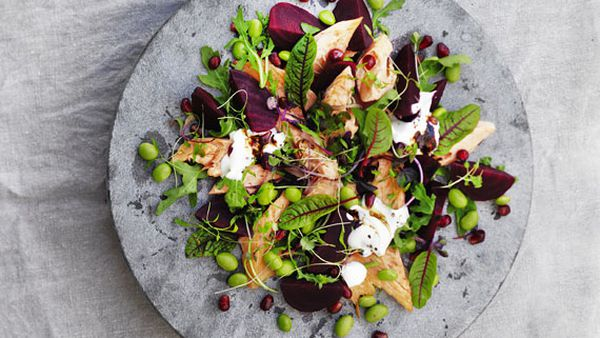 Smoked trout and beetroot salad
