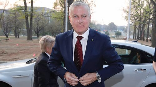 Michael McCormack in Canberra this morning.