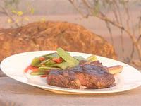 The perfect steak with reduction sauce and seasonal vegetables