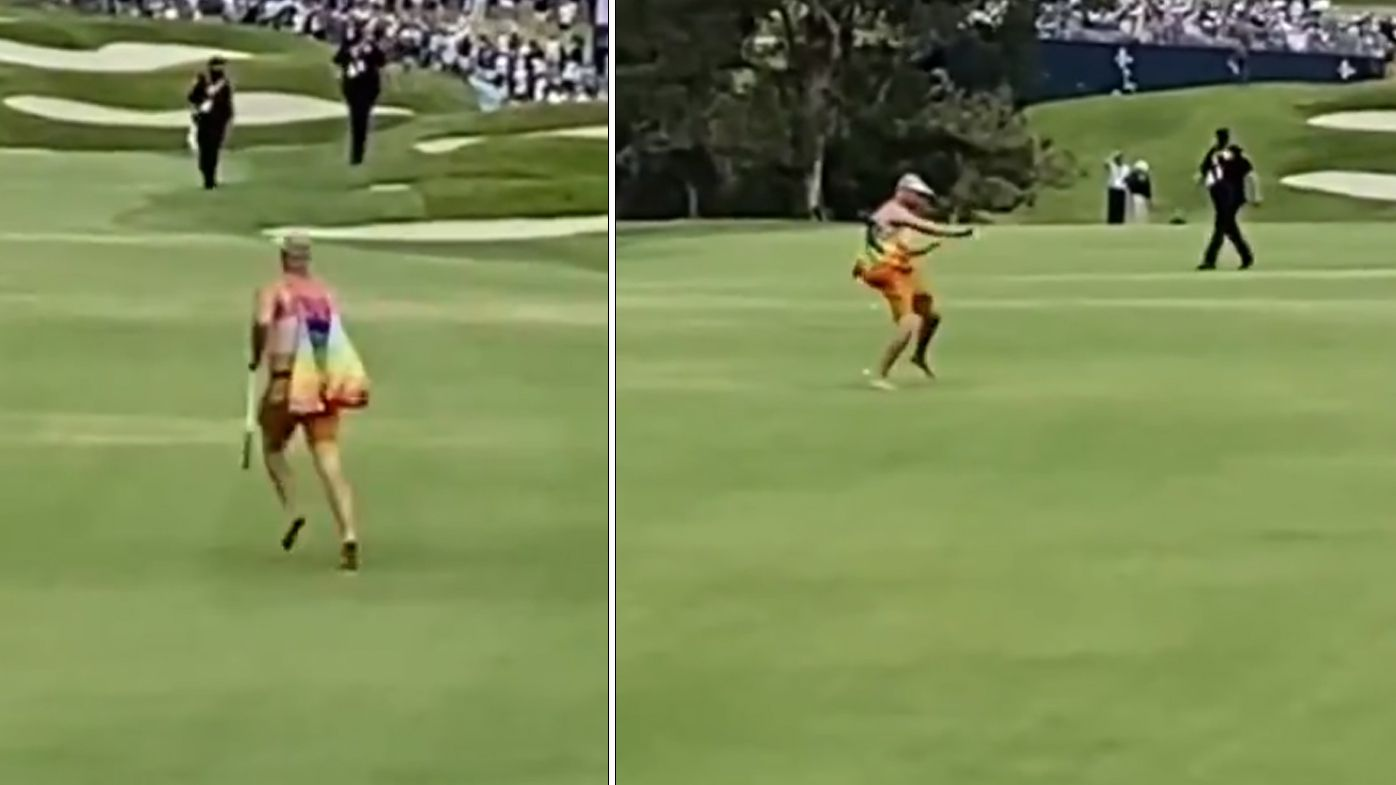 Golf streaker 'lit up' by security after bizarre US Open stunt