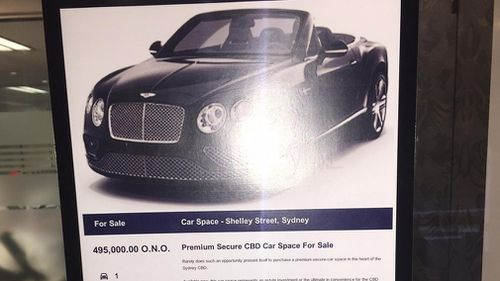 A car park spot is being offered for sale at $495,000.